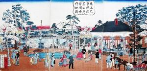 上野公園地不忍見晴図_明治期の上野精養軒