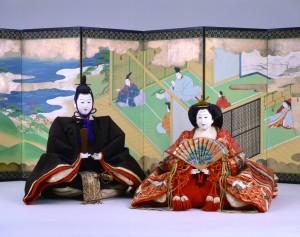 「内裏雛」三世大木平藏製 明治28年(1895) 三井記念美術館蔵