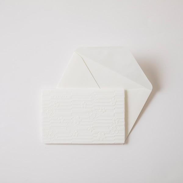 はいばらカード 浮彫和紙「縞に桜」