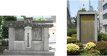京橋大根河岸青物市場跡碑