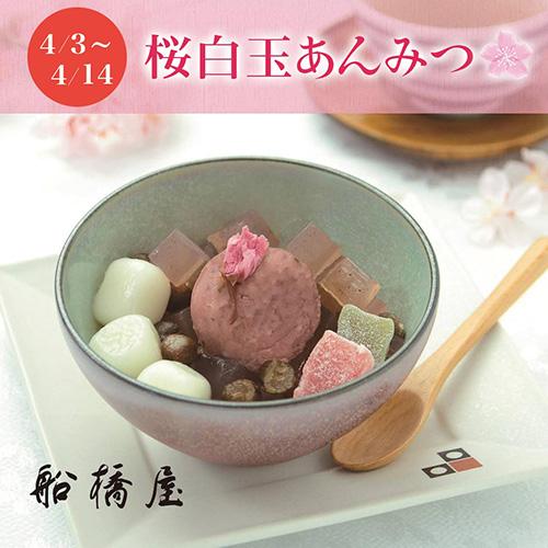 【季節限定】桜白玉あんみつ(白蜜) (お届け期間:4/3~4/14)【冷蔵品】
